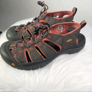 Keens Newport Men's Sandals 9.5 Brown Red